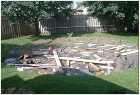 Left over roofing materials