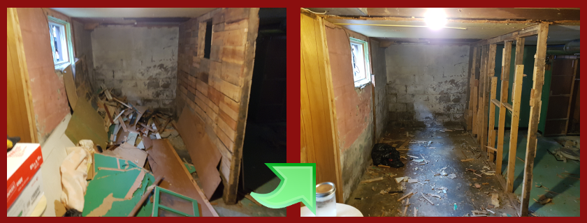 basement wall reno