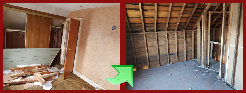 upstairs room removal